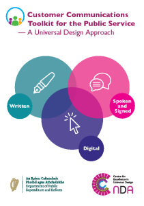 Customer Communications Toolkit for the Public Services - a Universal Design Approach front page preview
