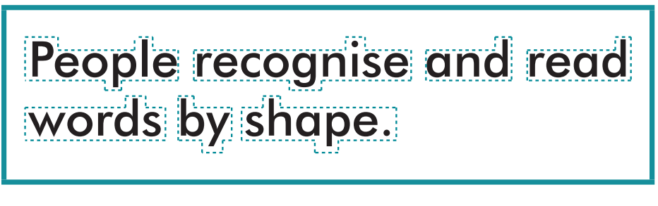 People recognise and read words by shape